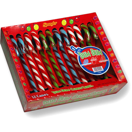 dum dums candy canes 12ct box � christmas candy canes
