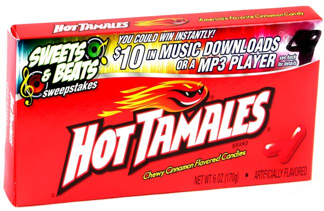 hot tamales cinnamon candy 5 oz theater box   12ct case