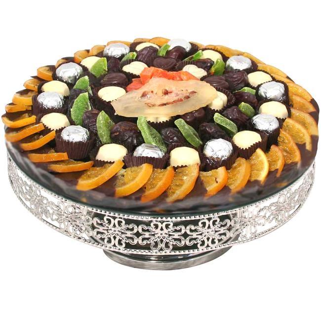 Tu B'Shvat Silver Plated Cake Stand • Tu B'Shvat Gifts ...