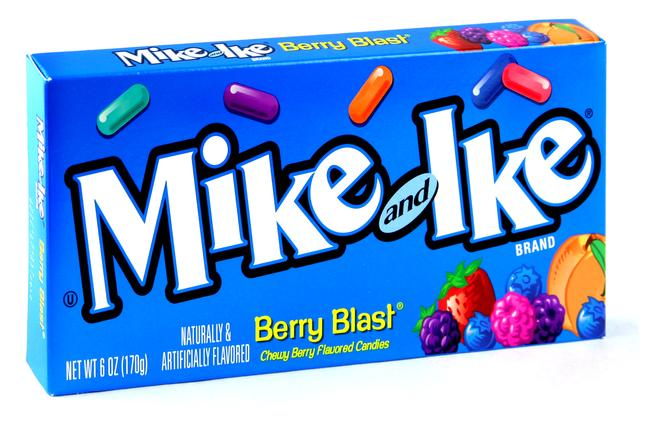 Mike & Ike Jelly Candy 5 oz Theater Box - Berry Blast ...