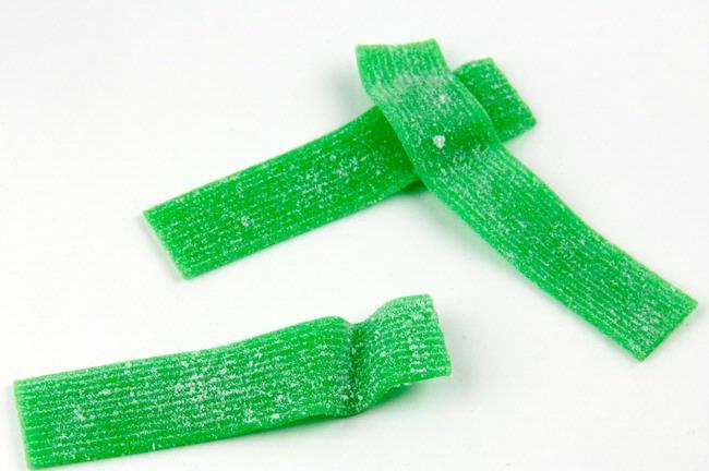 Green apple sour strips