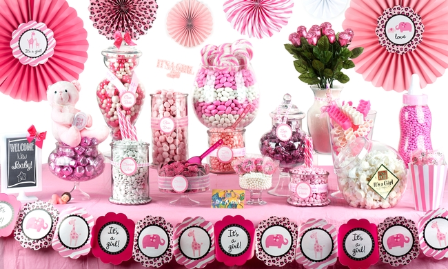 Baby Shower Candy Buffet Images ~ Baby girl shower candy buffet u2022 oh! nuts®