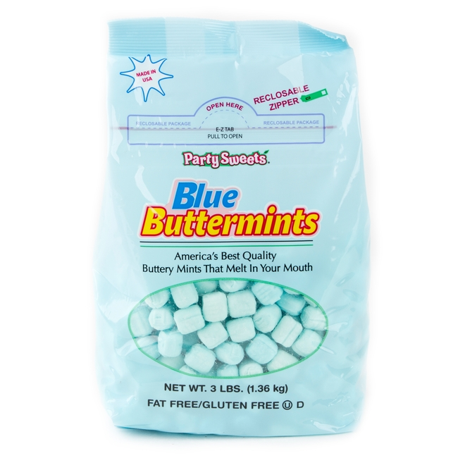 Blue Buttermints - 3 LB Bag • Unwrapped Candy • Bulk Candy • Oh ...