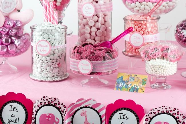 Baby Girl Shower Candy Buffet