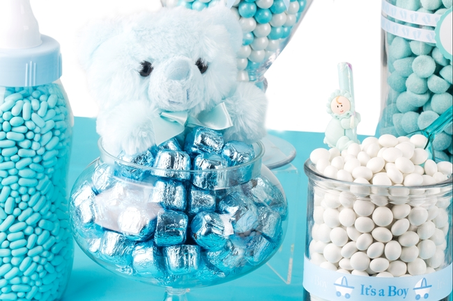 Elegant Baby Boy Shower Candy Buffet