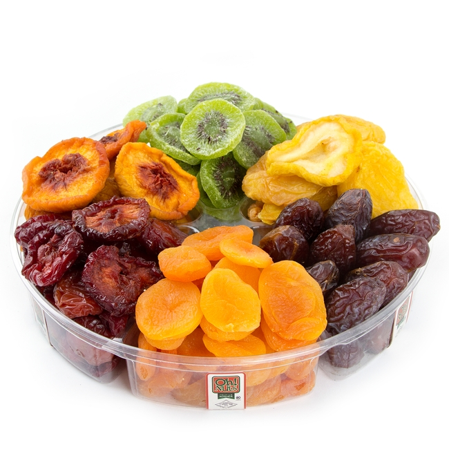 6 Section Dried Fruit Platter Dried Fruit Gift Baskets