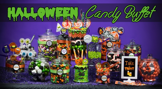 Halloween buffet table - Halloween Candy Buffet Oh Nuts 174