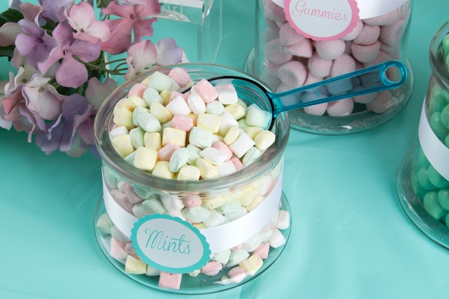 Baby Shower Candy Buffet   Pastel Colors