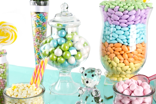 baby shower candy buffet pastel colors baby shower candy buffet pastel