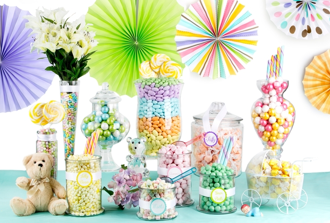 Baby Shower Candy Buffet   Pastel Colors. Buffet Size
