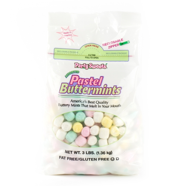 Pastel Buttermints - 3 LB Bag • Unwrapped Candy • Bulk Candy ...