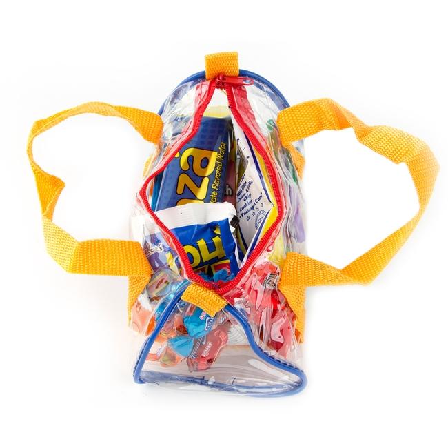 kids colorful clear purim gift bag 3 pack purim baskets mishloach manos purim baskets. Black Bedroom Furniture Sets. Home Design Ideas