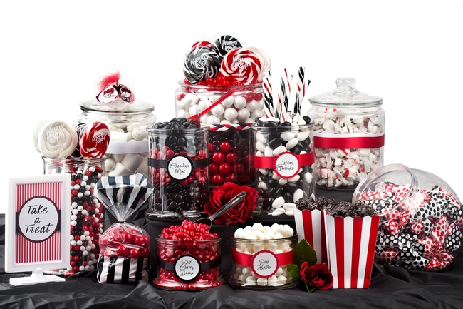 Red Black White Candy Buffet Oh Nuts
