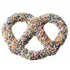 Chocolate Covered Pretzels with Rainbow Nonpareils
