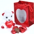 Red Milk Chocolate Sweetheart Gift Bag w/Teddy Bear