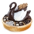 White and Dark Chocolate Swan Gift Basket