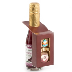 Wine Bottle Chocolate Box - 2 Pieces
