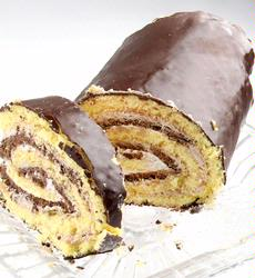 Black & White Cream Chocolate Roll