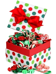 Christmas Jovial Dot Candy Box