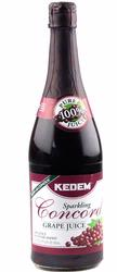 Kedem Large Sparkling Concord Grape Juice Bottle