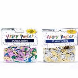 Happy Purim - Purim Shapes Confetti - 2PK