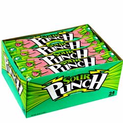 Sour Punch Watermelon Licorice Straws - 24CT Box