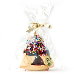 Chocolate Dipped Hamentashen With Rainbow Sprinkles - 1PC