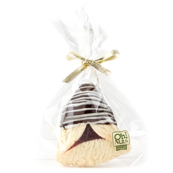 Chocolate Dipped Hamentashen With White Drizzle - 1PC