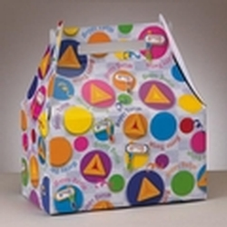 10-Inch Happy Purim Circles Gift Box