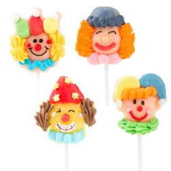 Purim Mini Clown Jelly Pops - 12CT