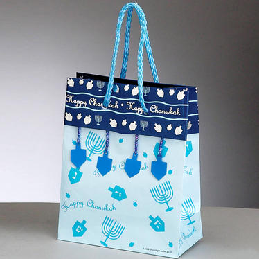Happy Chanukah Gift Bags - 12 PK