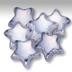 Silver Milk Chocolate Stars