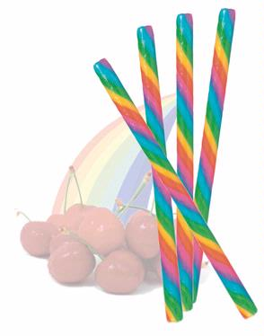 Cherry Rainbow Candy Sticks