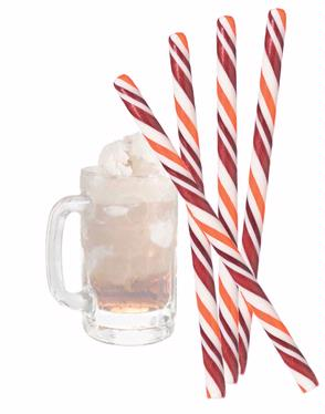 Root Beer Float Candy Sticks