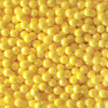 Yellow Shimmer Pearl Candy Bead