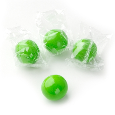 Wrapped Green Gumballs