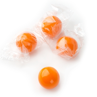 Wrapped Orange Gumballs