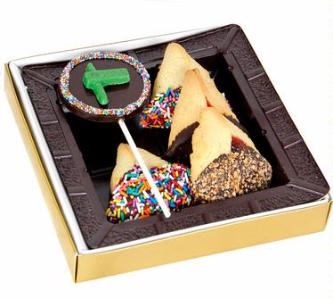 Chocolate Dipped Hamantashen & Chocolate Pop Gift Box