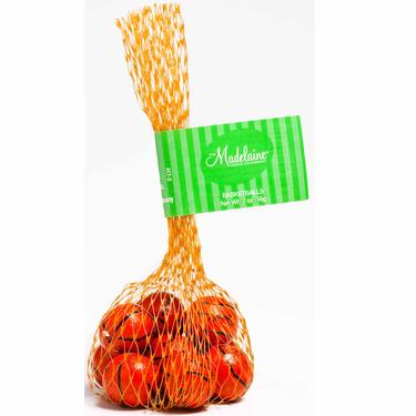 Milk Chocolate Basketballs Mesh Bag - 24PK Tub