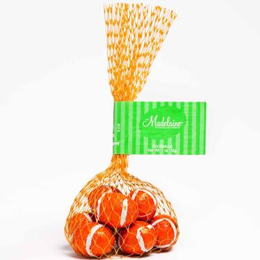 Milk Chocolate Footballs Mesh Bags - 24PK Tub