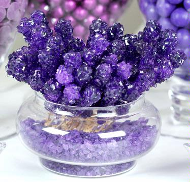 Purple Rock Candy Crystal Sticks - Grape