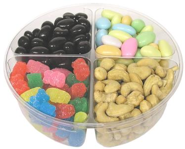 4-Section Candy & Nuts