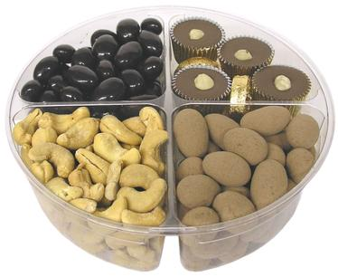 Premium 4-Section Chocolate & Nut Tray