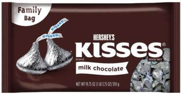 Silver Milk Chocolates Hershey's Kisses - 18 oz Bag