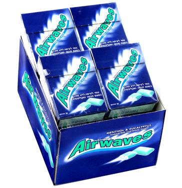 Airwaves Menthol & Eucolyptus Gum Pellets Case
