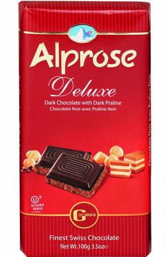 Alprose Deluxe Dark Chocolate Bar