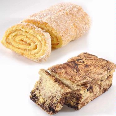 Apricot Jelly Roll + Marble Cake Combo