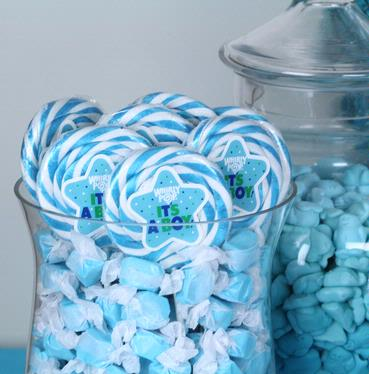 It's A Boy Whirly Pops - 24CT Display Box