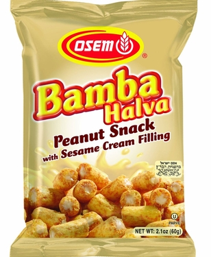 Osem Bamba Peanut Snack with Halva Filling - 18CT Case