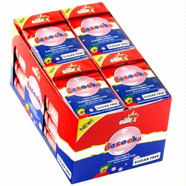 Elite Bazooka Sugar Free Gum - Tutti Frutti (16CT Box)